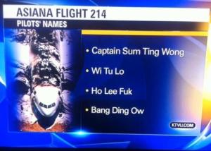 "Racist pilot names ""prank"""
