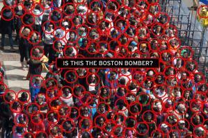 Boston marathon crowd of potential suspects
