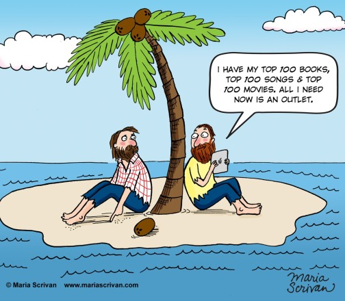 Two guys on a deserted island