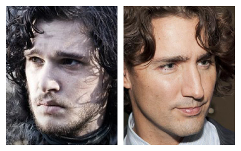 John Snow and Justin Trudeau.