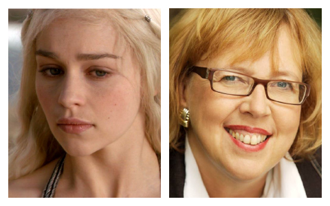 Daenerys Targaryen and Elizabeth May