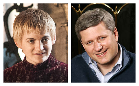 Joffrey and Stephen Harper