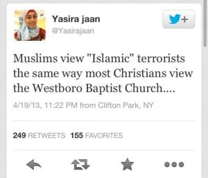 Yasira Jaan on WBC tweet