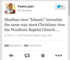 Yasira Jaan on WBC tweet