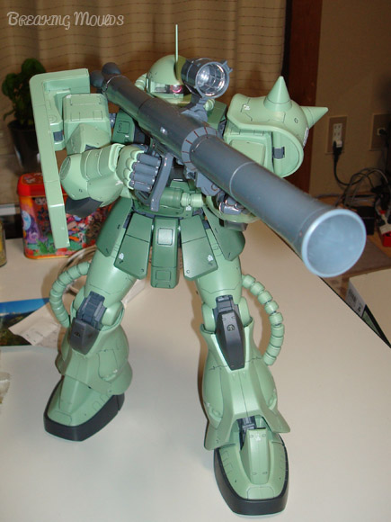 I hereby present Zaku II, land edition. 1/44 of actual size.