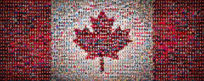 Canadian mosaic map