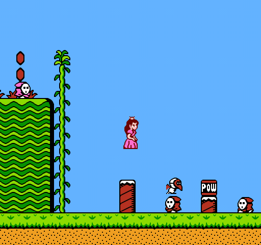 Floating princess in Super Mario 2