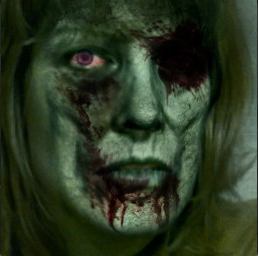 janelle as a zombie