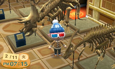 I can donate all the dino bones I find to the town museum, and check out the completed displays!