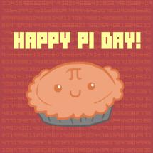 Cute Happy Pi Day graphic