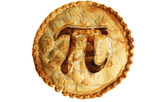 pi baked into a pie