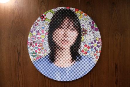 Ayaka Shiomura dot portrait.