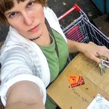 Shopping cart and box