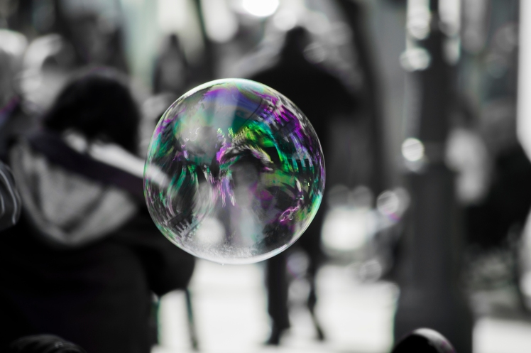 I often feel like this bubble in a crowd. Source: Creative Commons - Jesús López.