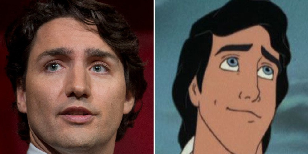 Everyone's saying Justin Trudeau looks like the real-life Prince Eric. Can you see it?