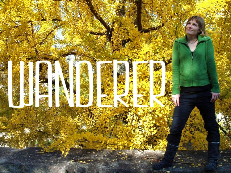 wanderer in leaves